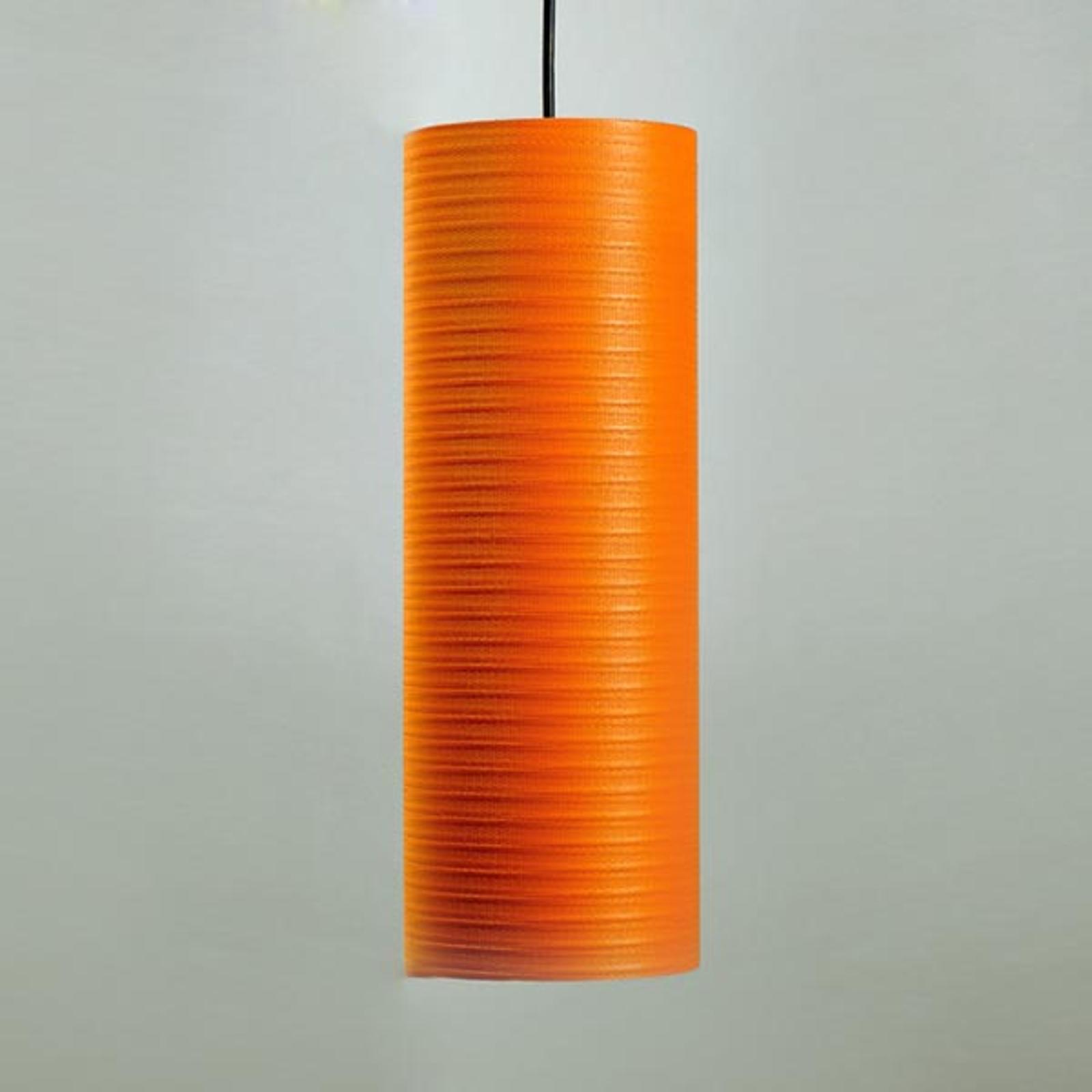 Lampa wisząca Tube, 30cm, pomarańczowa
