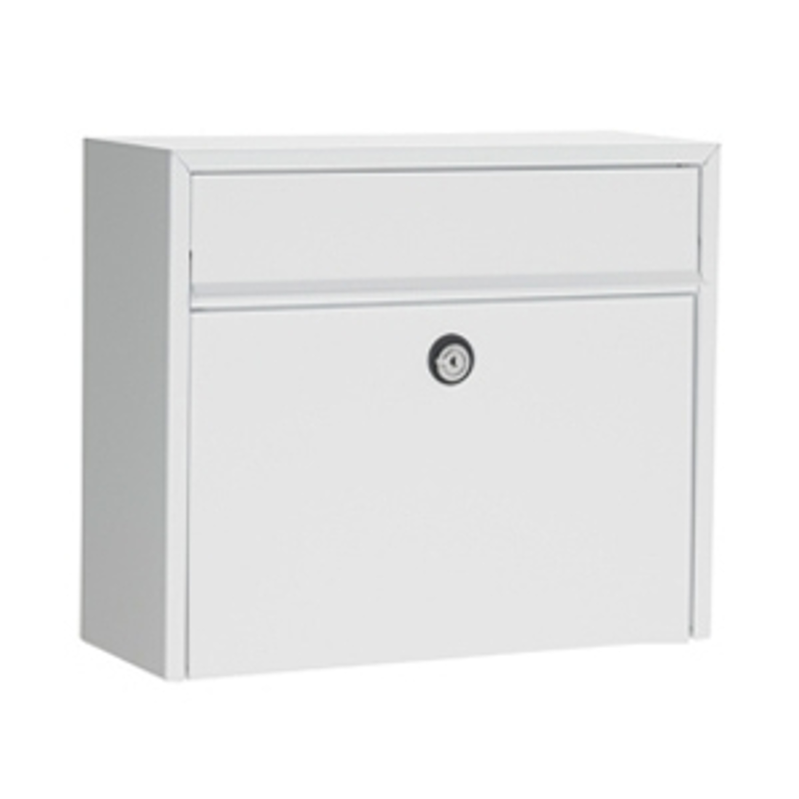 Enkel postlåda LT150, vit, Eurolås