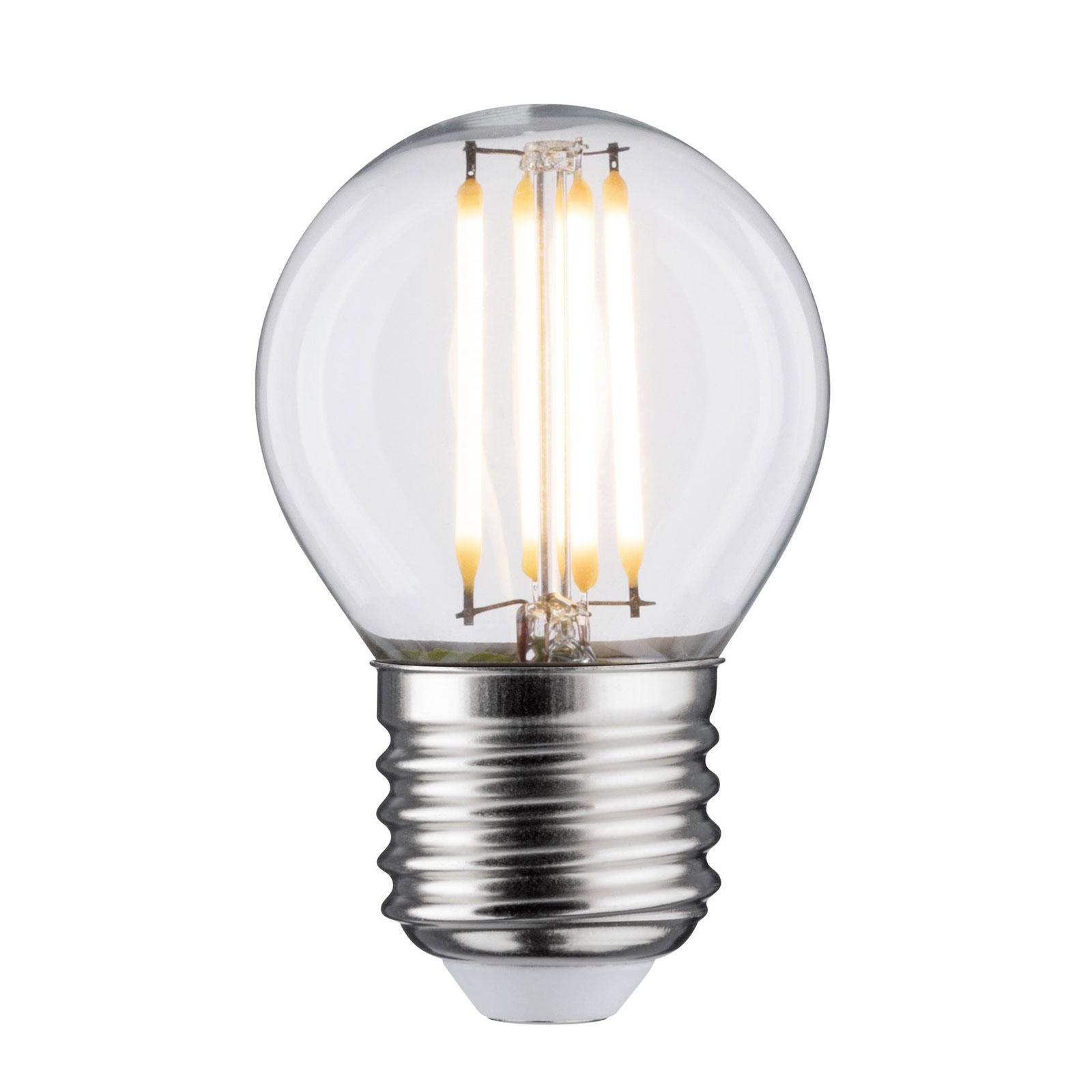 LED žárovka E27 5W kapka 2700K čirá