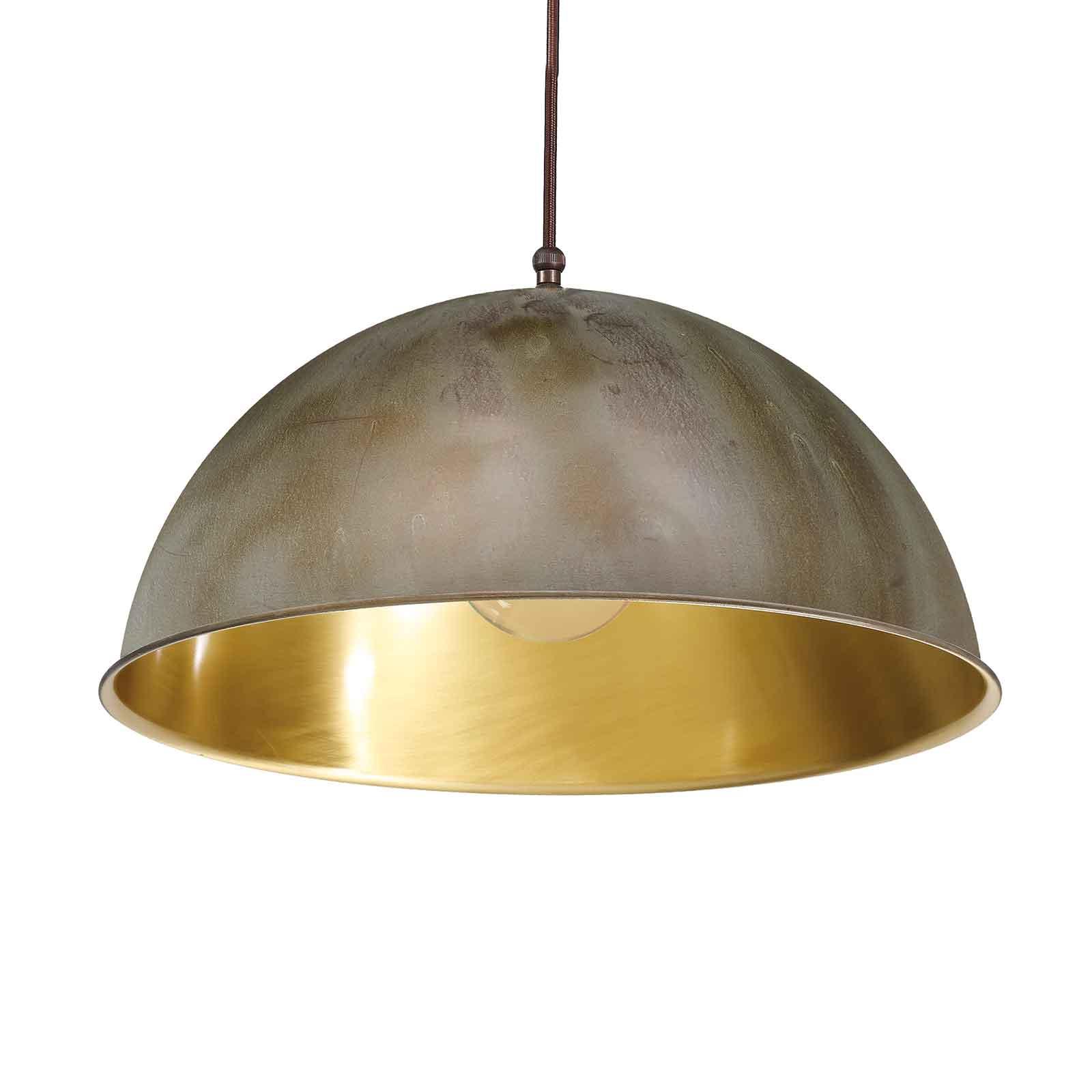 Circle hengelampe gull/antikk messing, Ø30cm