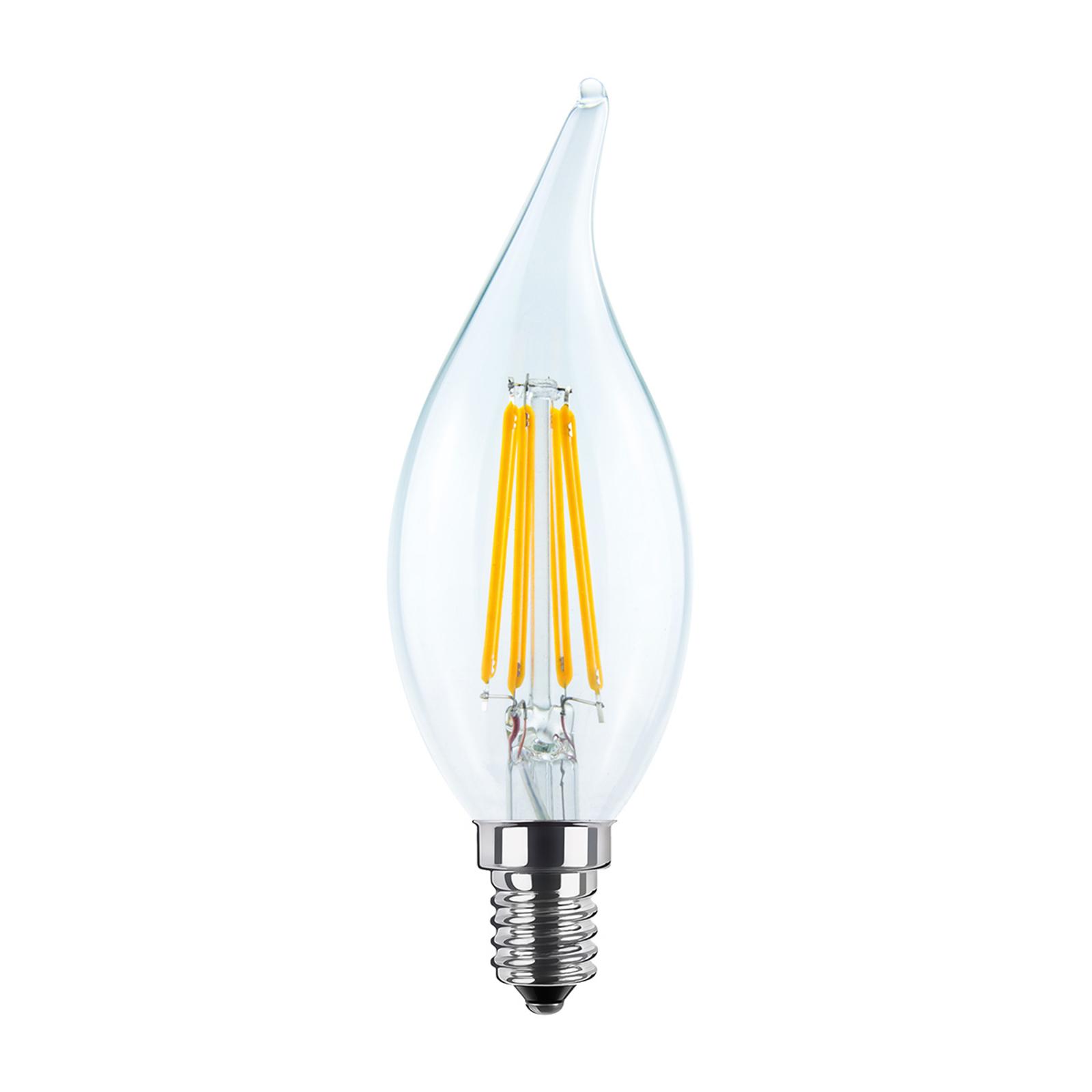 Lampadina candela fiammella LED E14 4W 2.700K