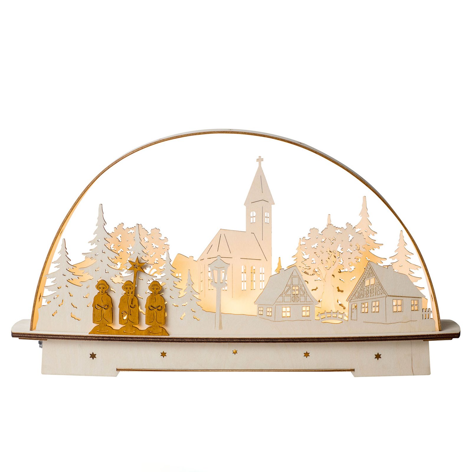 Carol Singer LED candle arch, battery-powered_8501242_1
