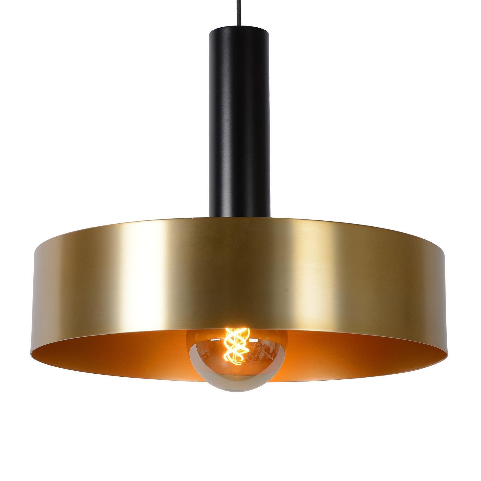 Lampa wisząca Giada czarna złota Ø 50 cm