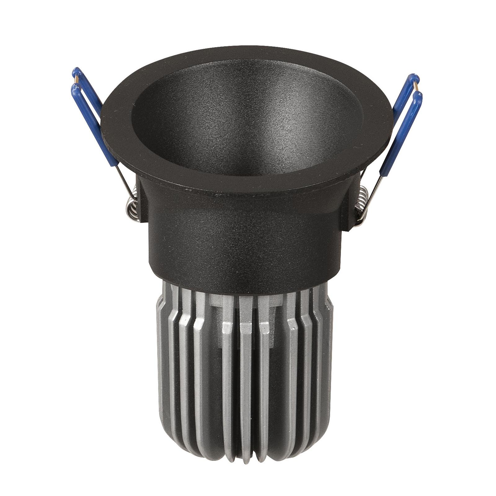 LED-Einbaulampe Toodle rund asymmetrisch, schwarz