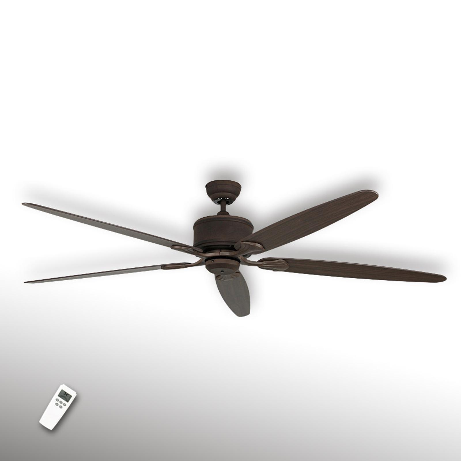 Stropný ventilátor Eco Elements hnedý 5-lopatkový