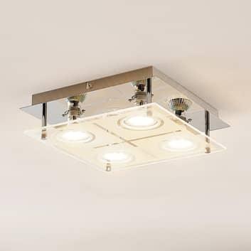 ELC Tahyla lámpara LED de techo GU10 vidrio, 26 cm