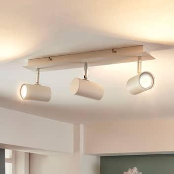 LED loftlampe Iluk i hvid med tre lyskilder