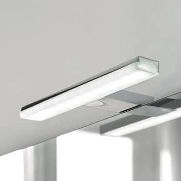 Lámpara de espejo LED Pandora, cromo