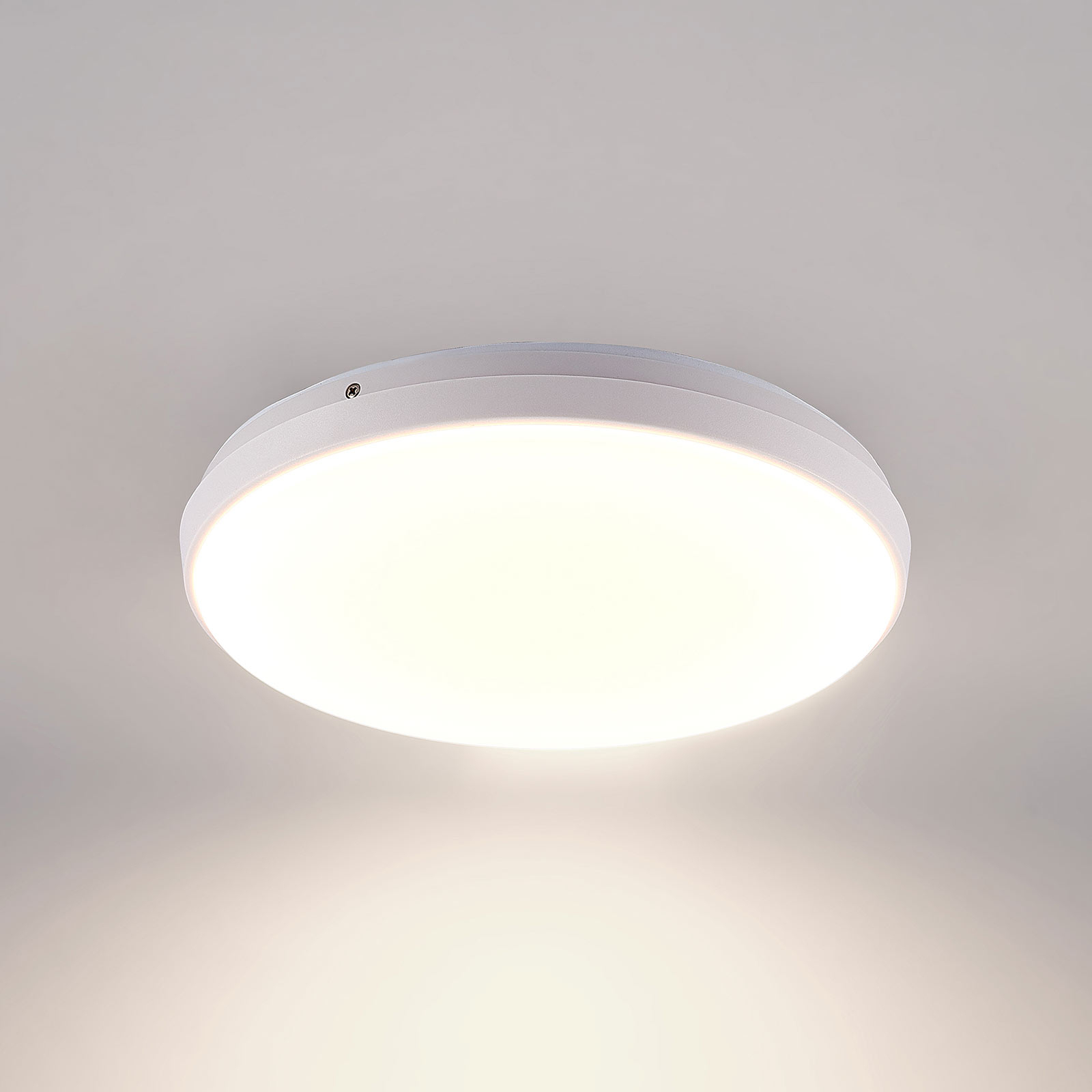 Arcchio Brady LED-loftlampe, hvid, rund, 30 cm