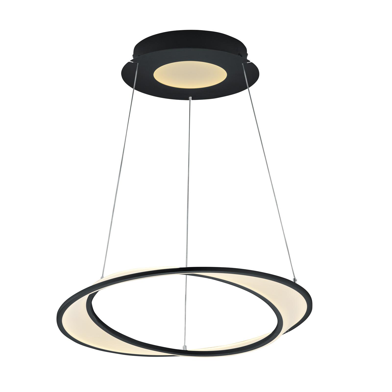 B-Leuchten Aurora LED-Pendelleuchte, schwarz