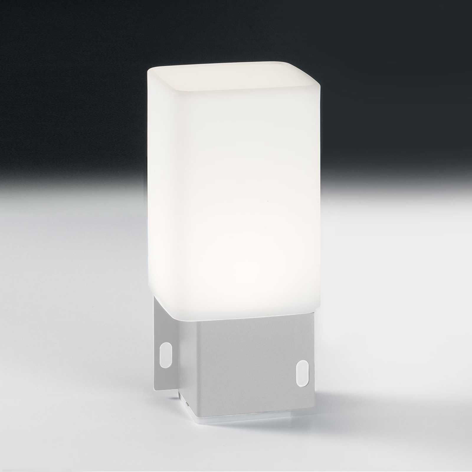 LED-Außendekolampe Cuadrat - 1-fach-USB, weiß