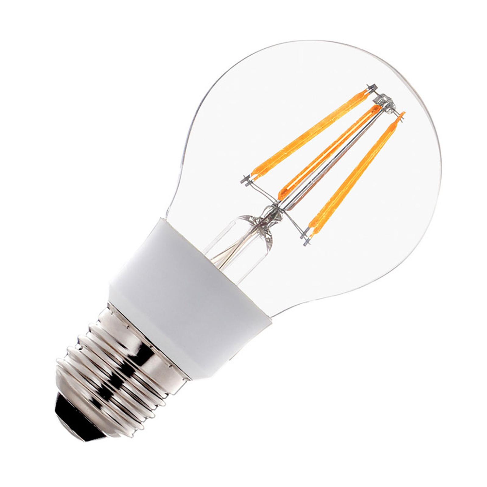 SLV LED-pære E27 A60 Filament 7 W varmhvit dimbar
