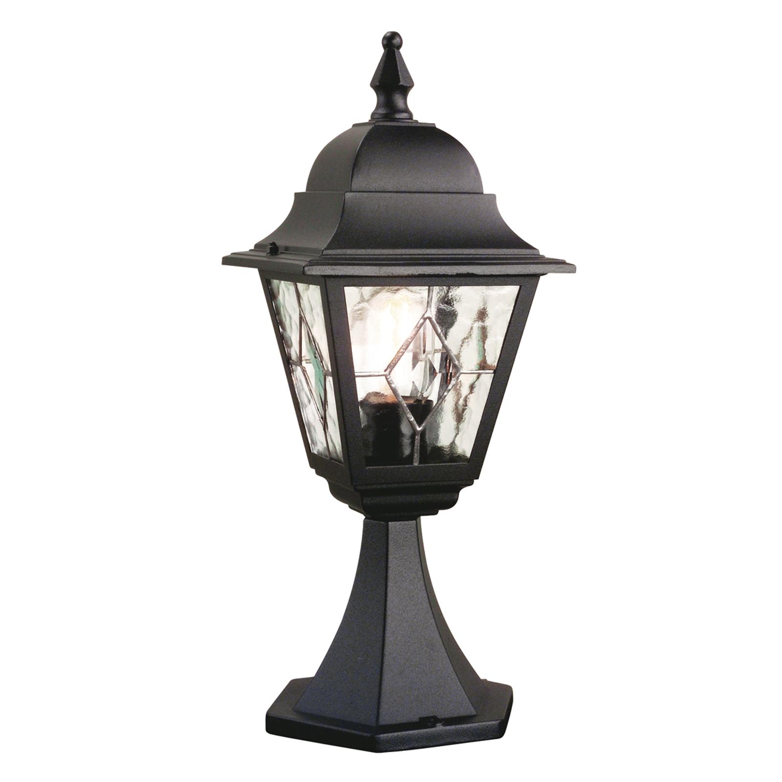 Sokkellamp Norfolk, glas-in-lood