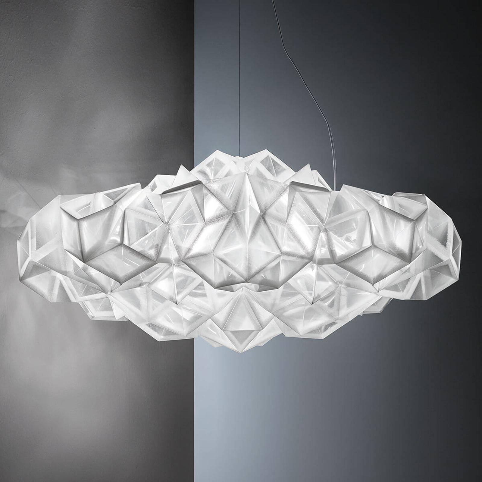 Slamp Drusa – designerska lampa wisząca, biała
