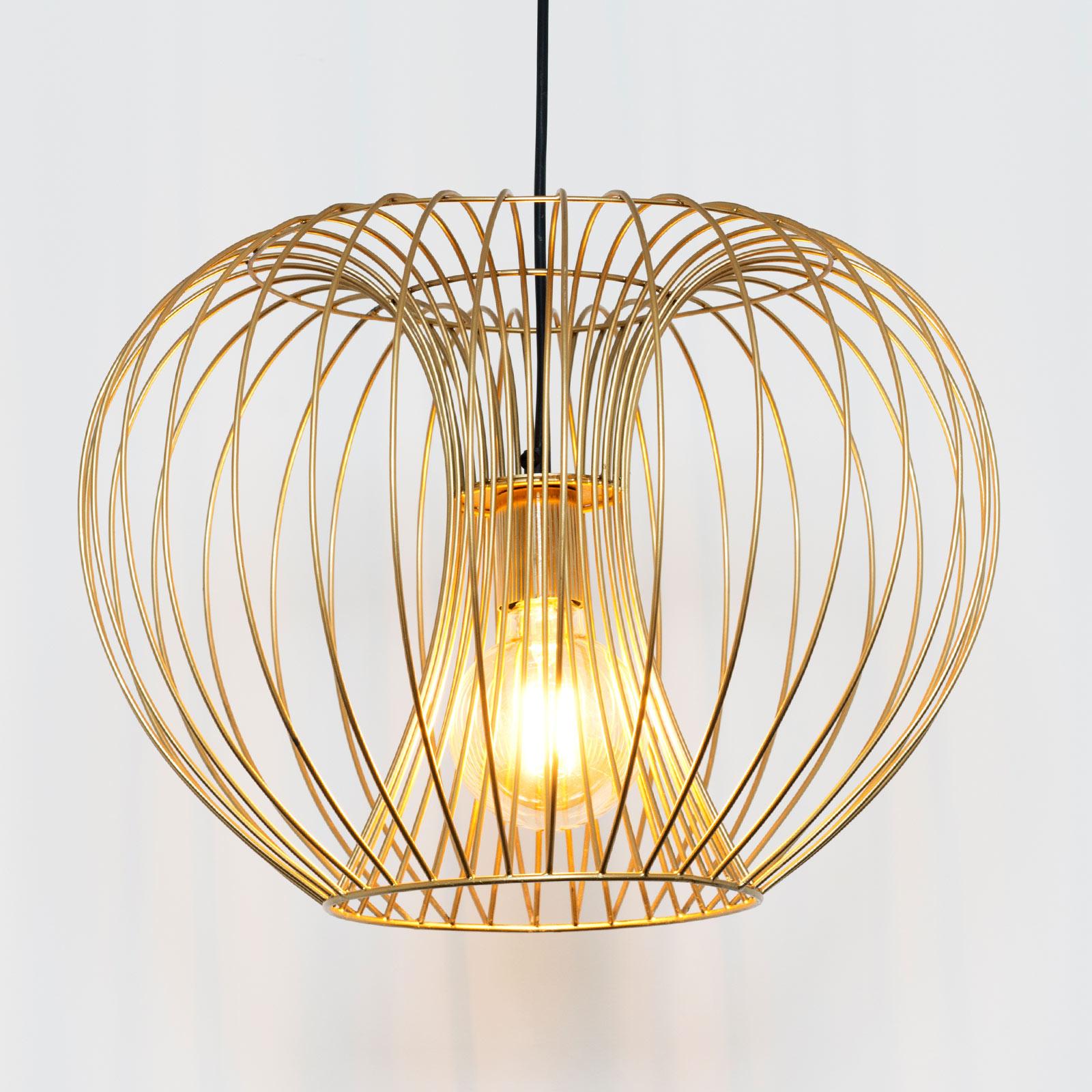 Lampa wisząca Protetto, złota, Ø 42 cm
