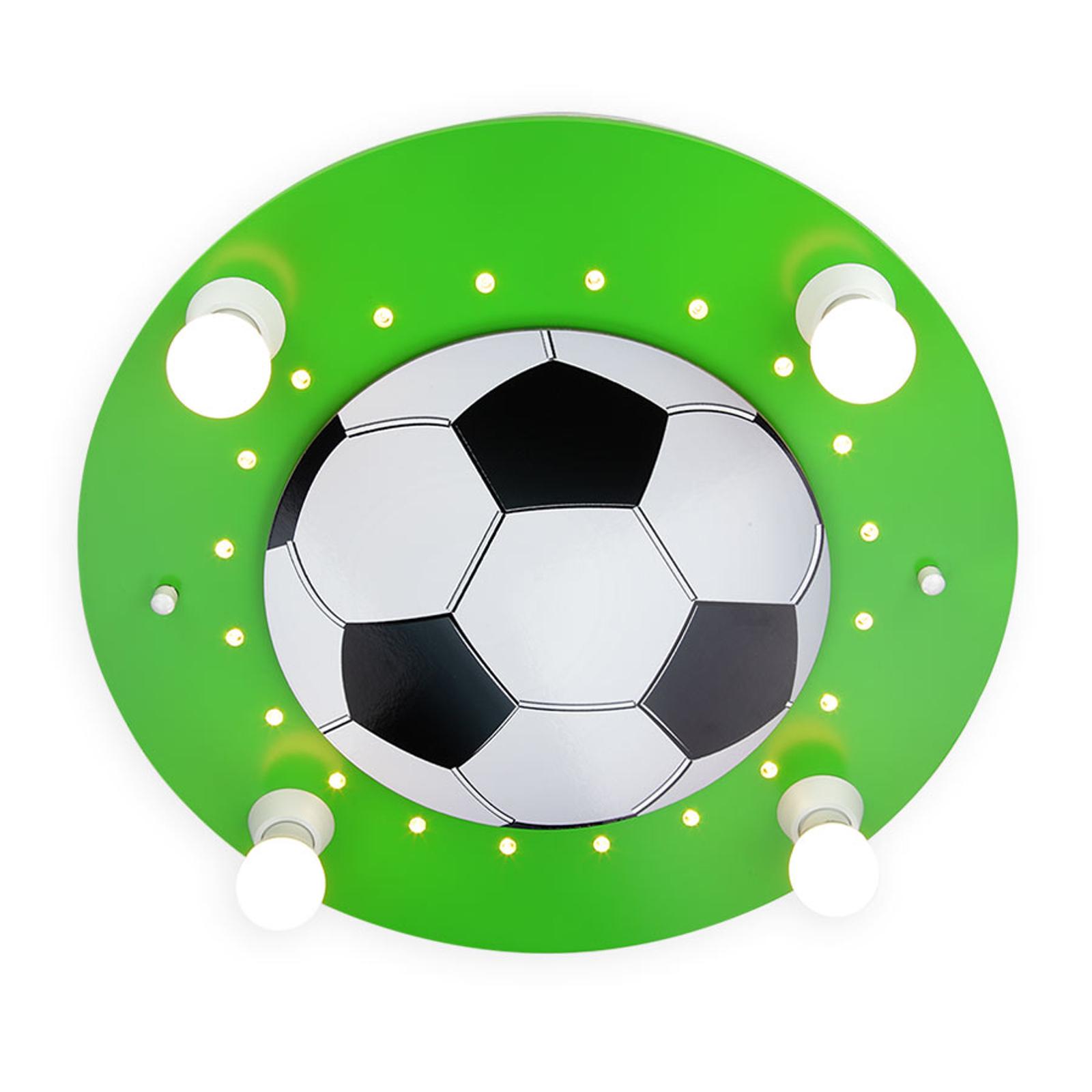 Plafondlamp Voetbal, 4-lamps donkergroen-wit