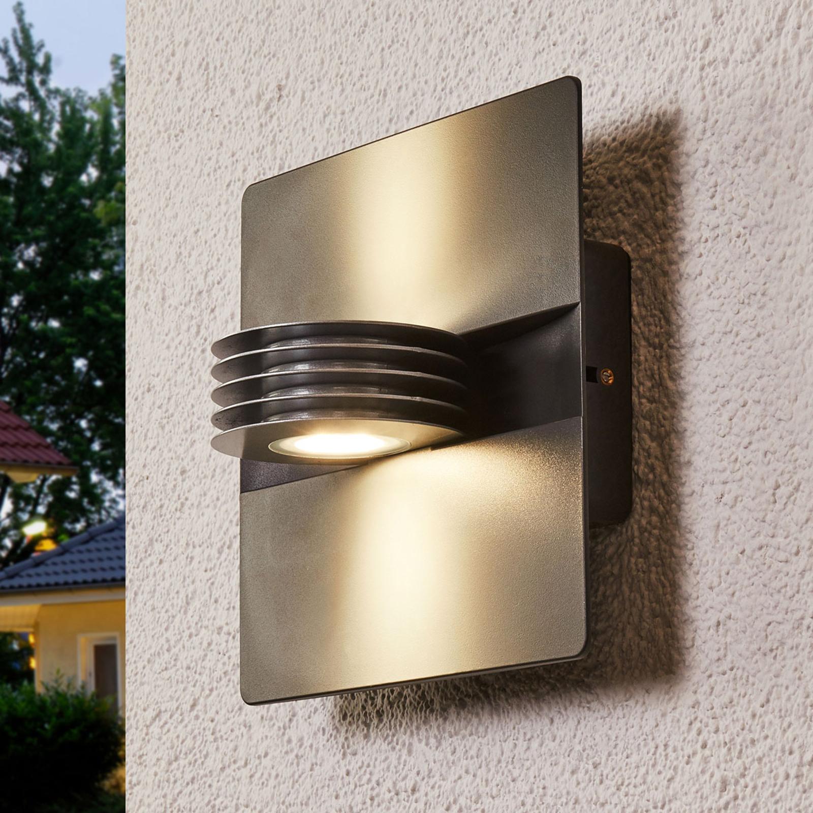 Antracytowy kinkiet zewnętrzny LED Split