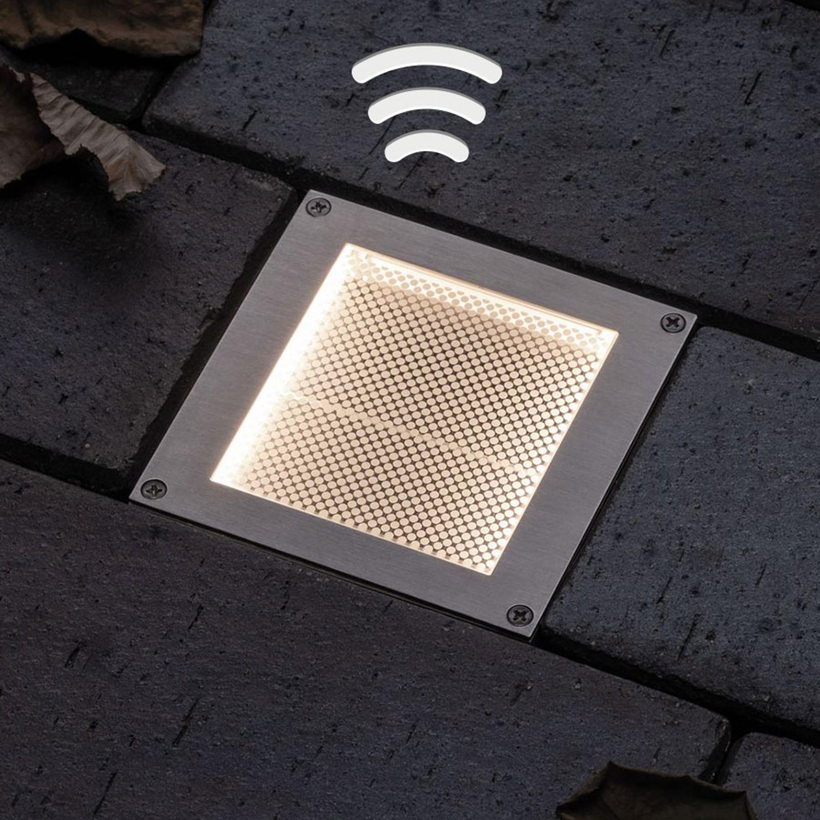 Paulmann LED-Solar-Bodeneinbauleuchte Aron 10x10cm