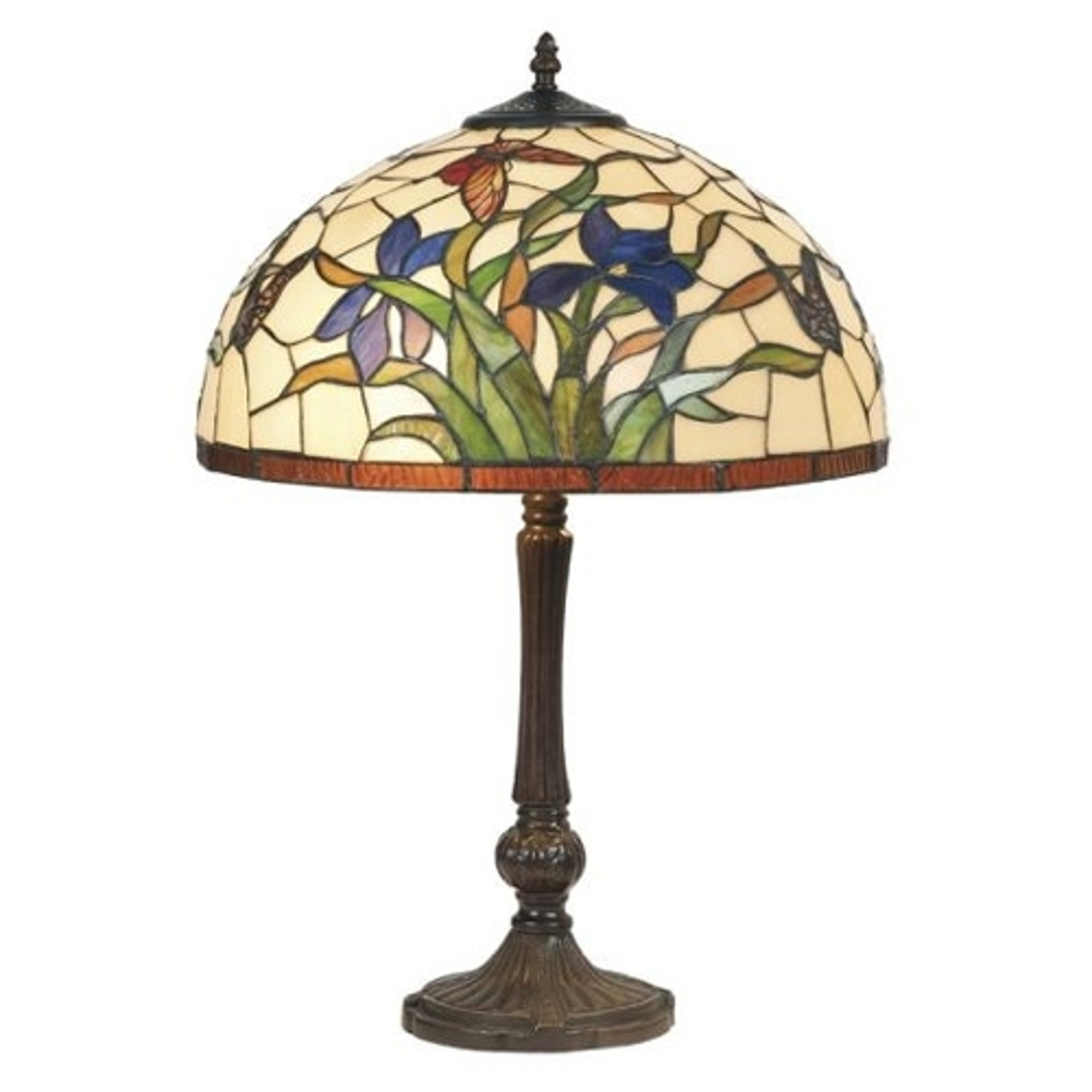 Tischleuchte Elanda im Tiffany-Stil, 62 cm