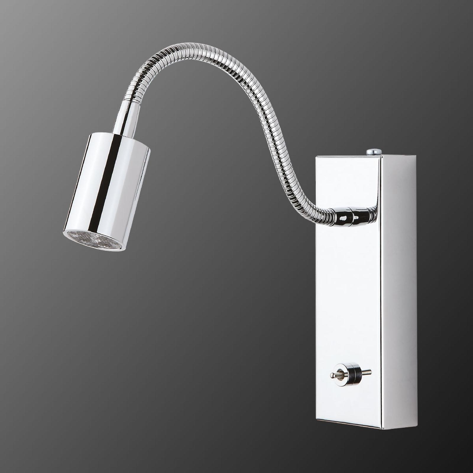 Pohyblivé nástenné LED svietidlo s vypínačom