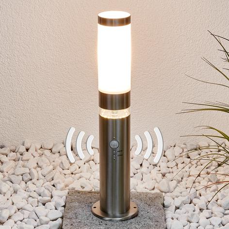 Lámpara pedestal de acero inox Binka con sensor