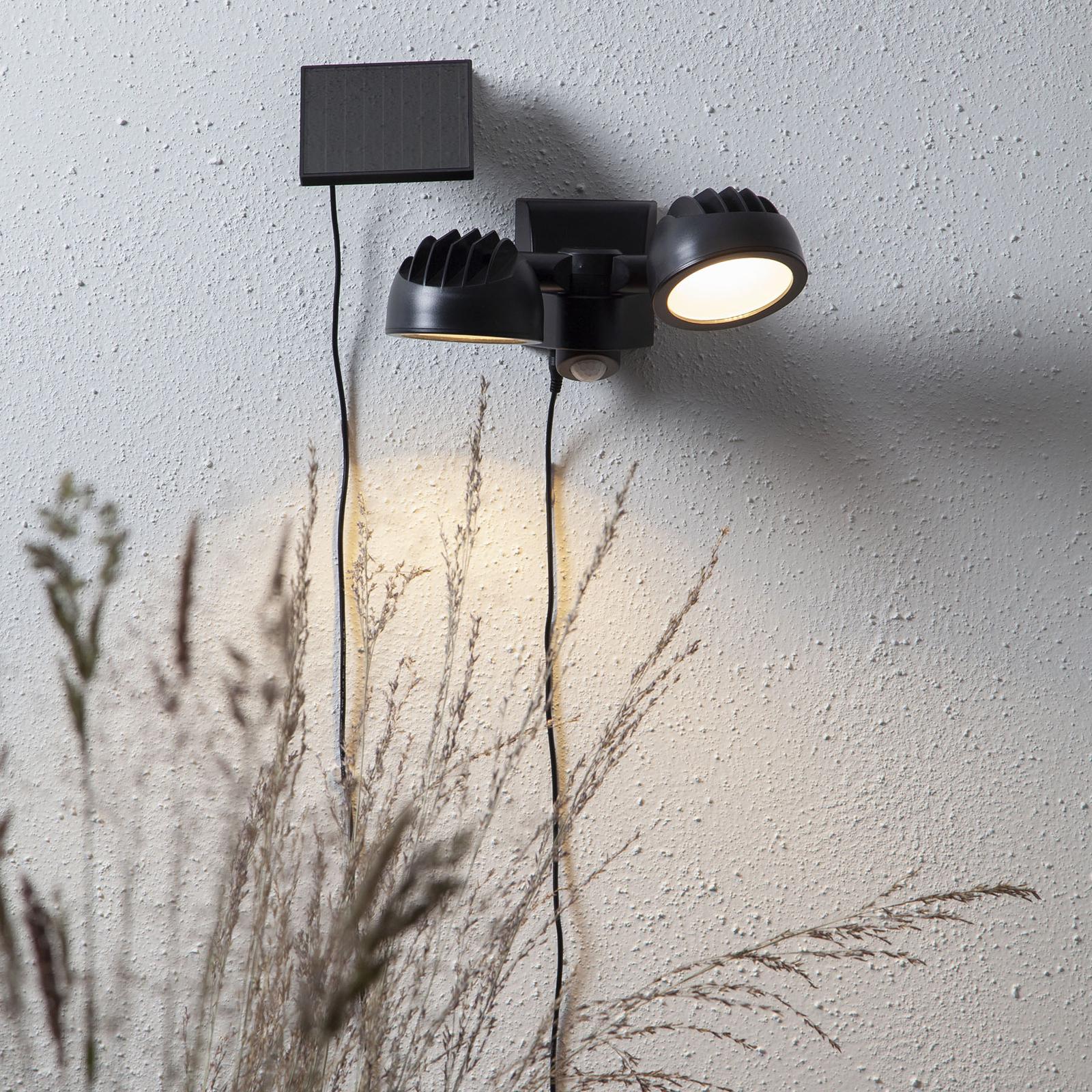 LED-solcellslampa Powerspot Sensor, 2 lampor