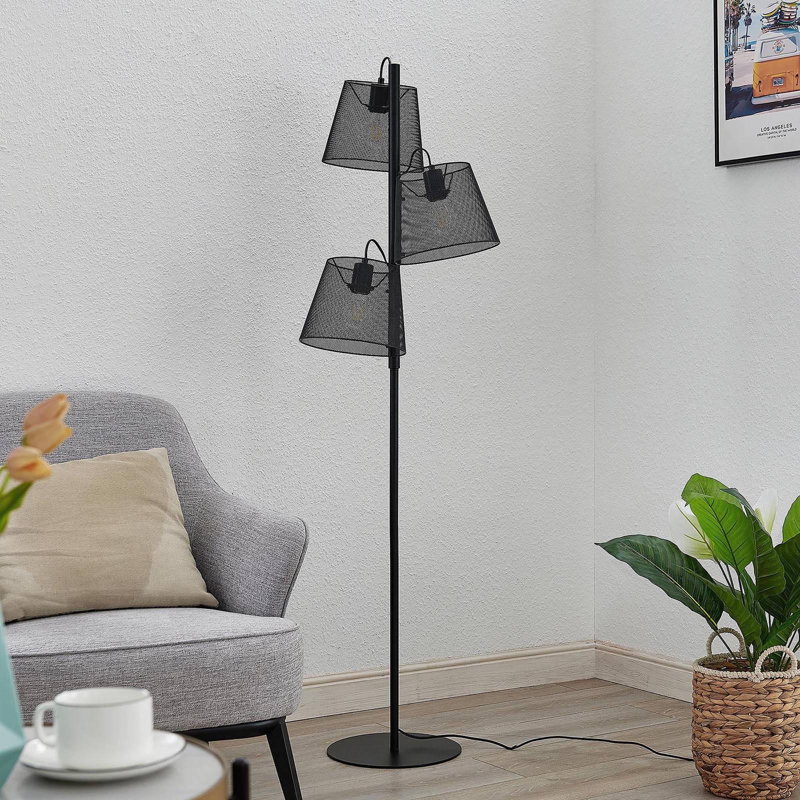 Lindby Kirill vloerlamp 3-lamps
