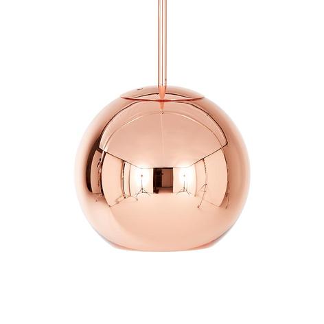 Copper Round - kuleformet pendellampe