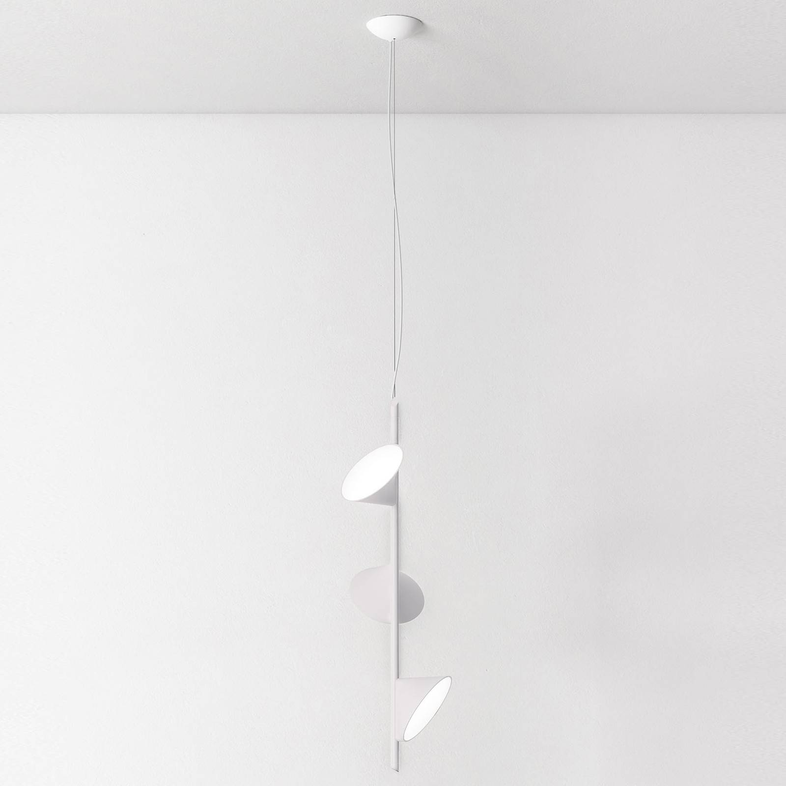 Axolight Orchid LED hanglamp, 3-lamps wit