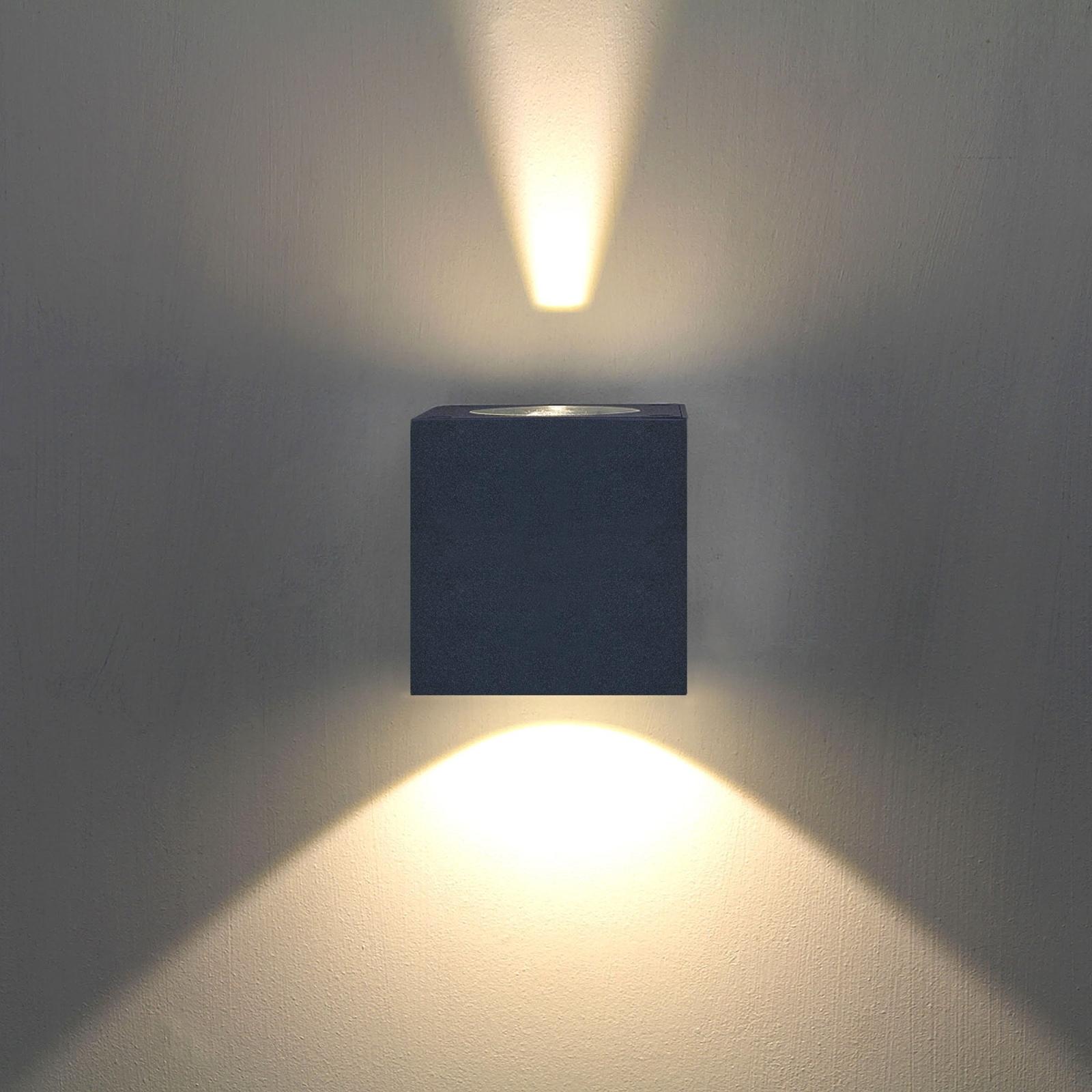 LED udendørs væglampe Jarno, grafit