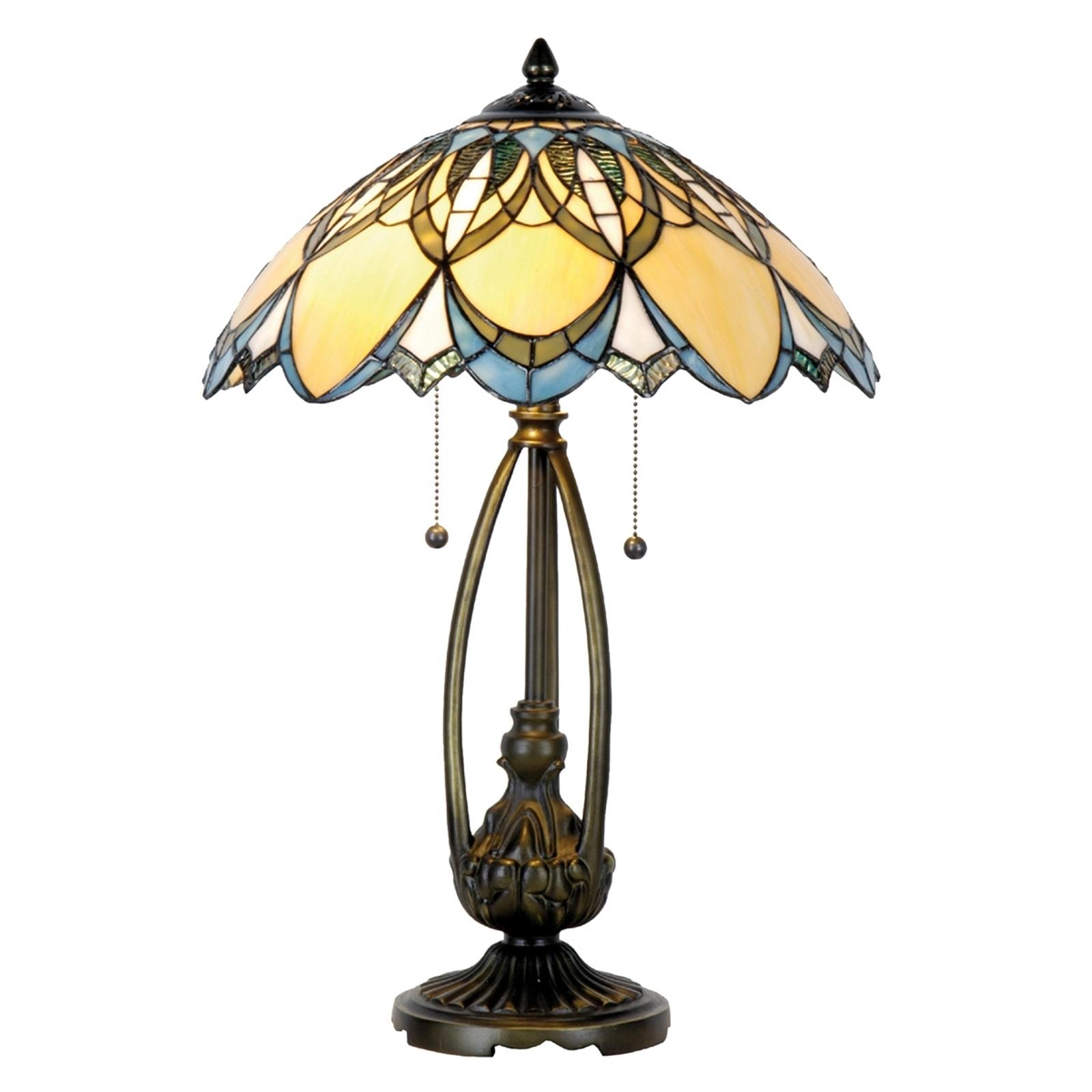 Wyjątkowa lampa stołowa Poseidon Tiffany
