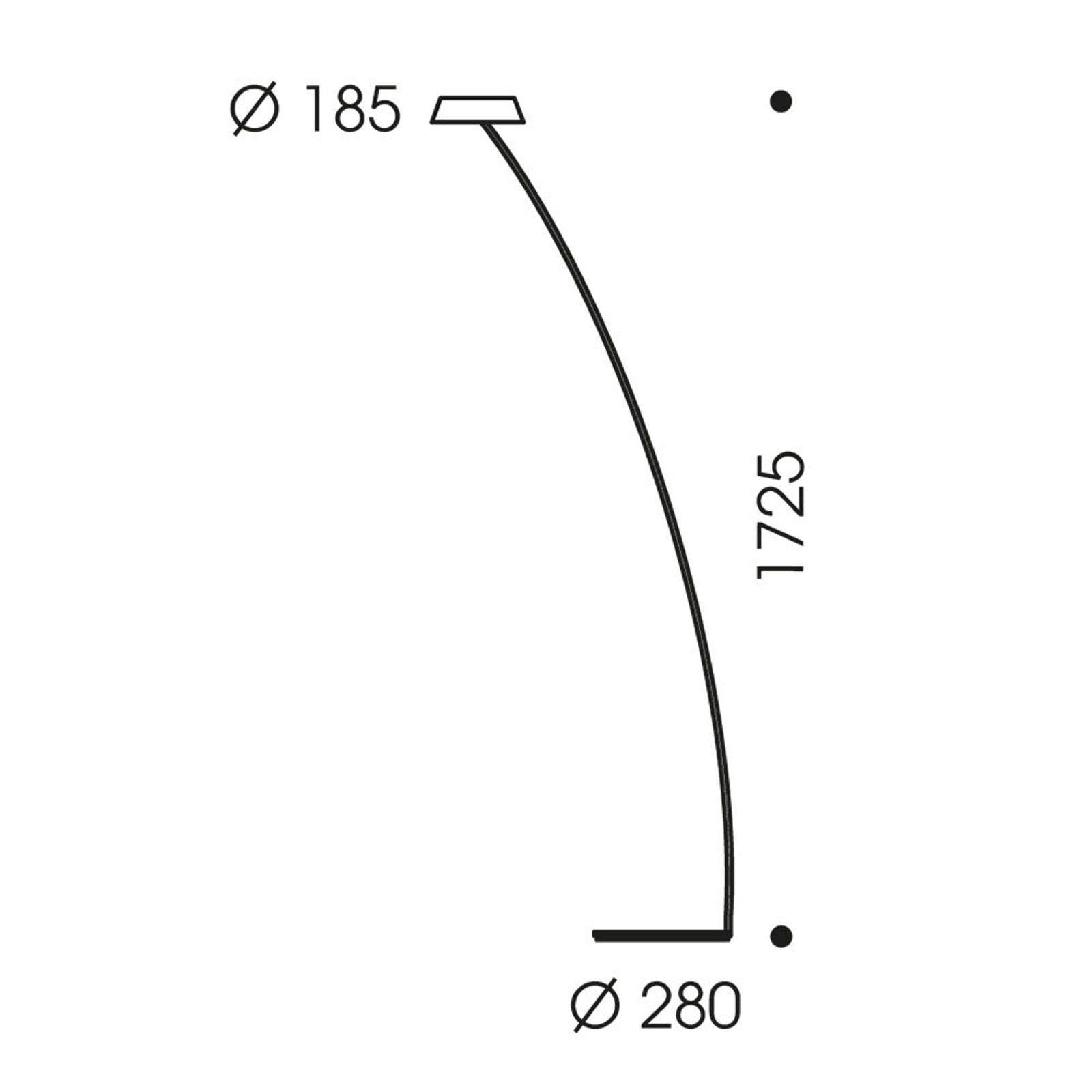 OLIGO Glance lampa stojąca wygięta szara matowa