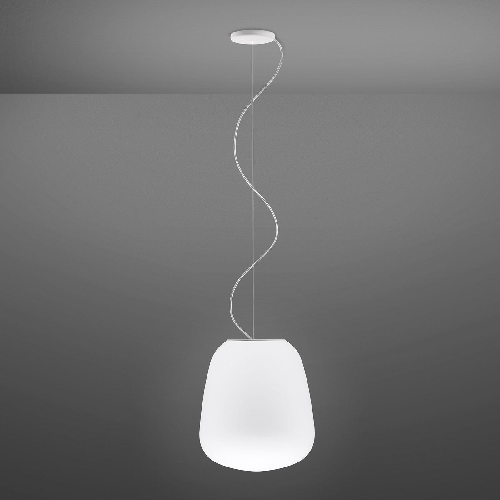 Fabbian Lumi Baka glazen hanglamp, Ø 33 cm