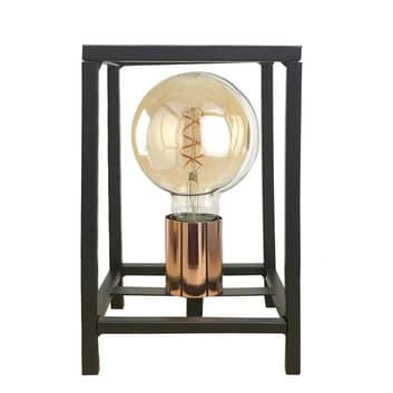 Lámpara de mesa Floki como cuboide abierto
