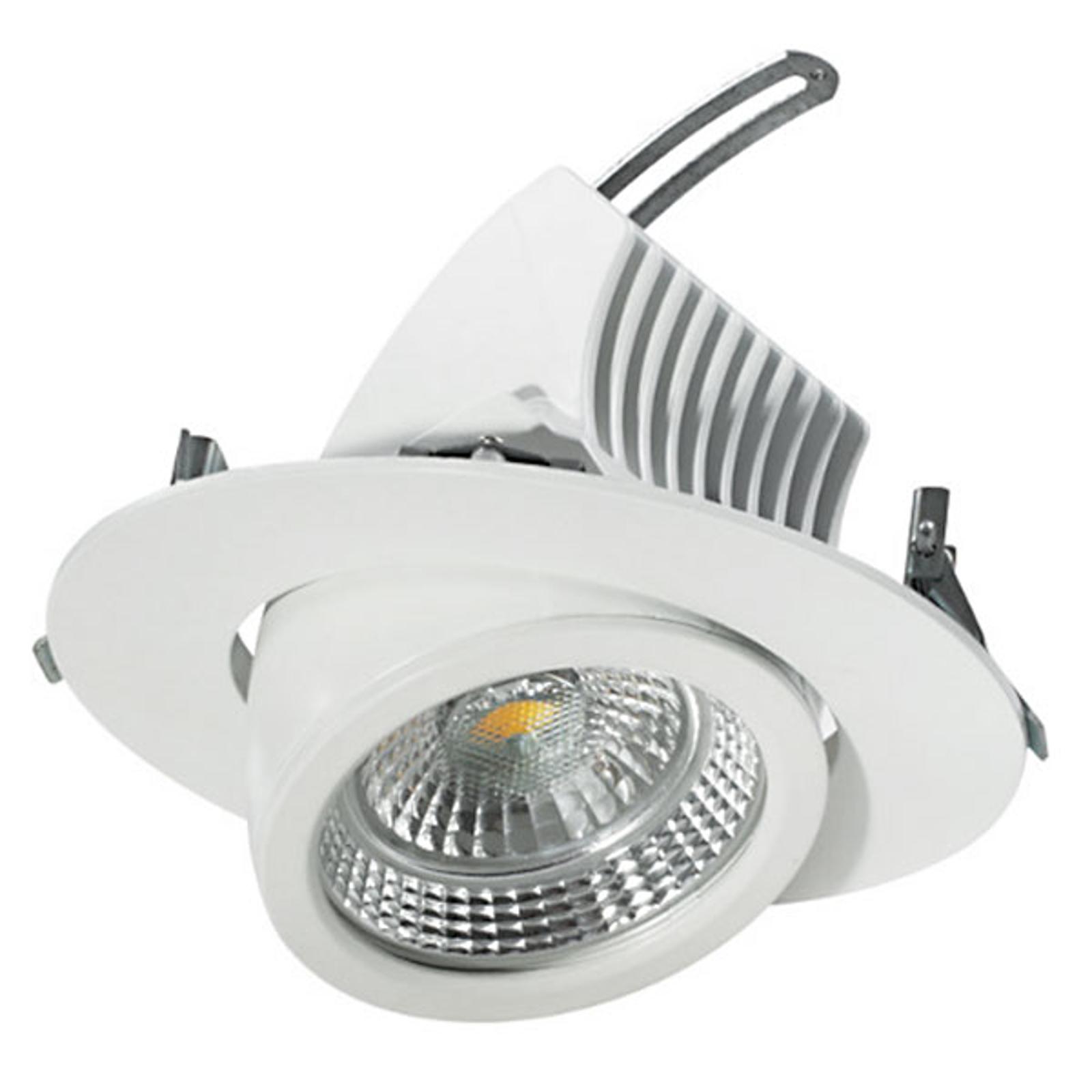 Odchylany reflektor wpuszczany LED, 20 cm, 48 W