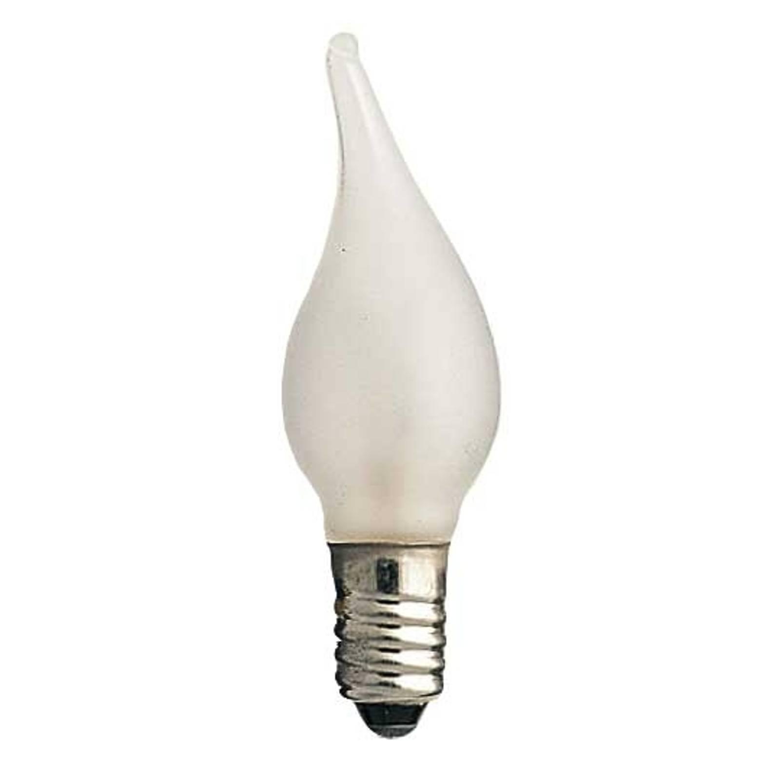 E10 3W 16V lampadine effetto tremolante set da 3