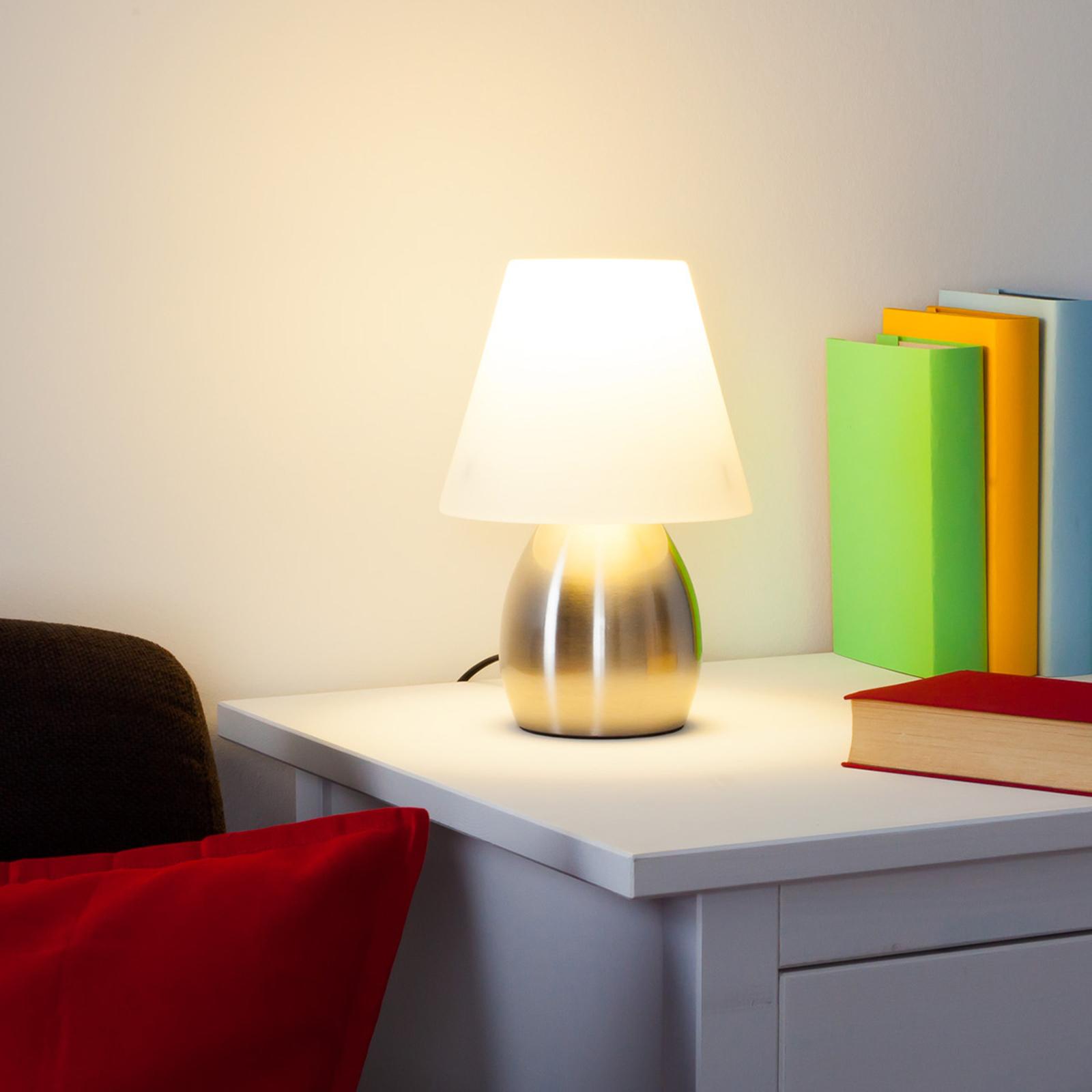 Dekorativ bordslampa Emilan med E14 LED lampa | Lamp24.se