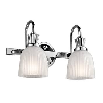 LED-vägglampa Cora till badrum, 2 lampor