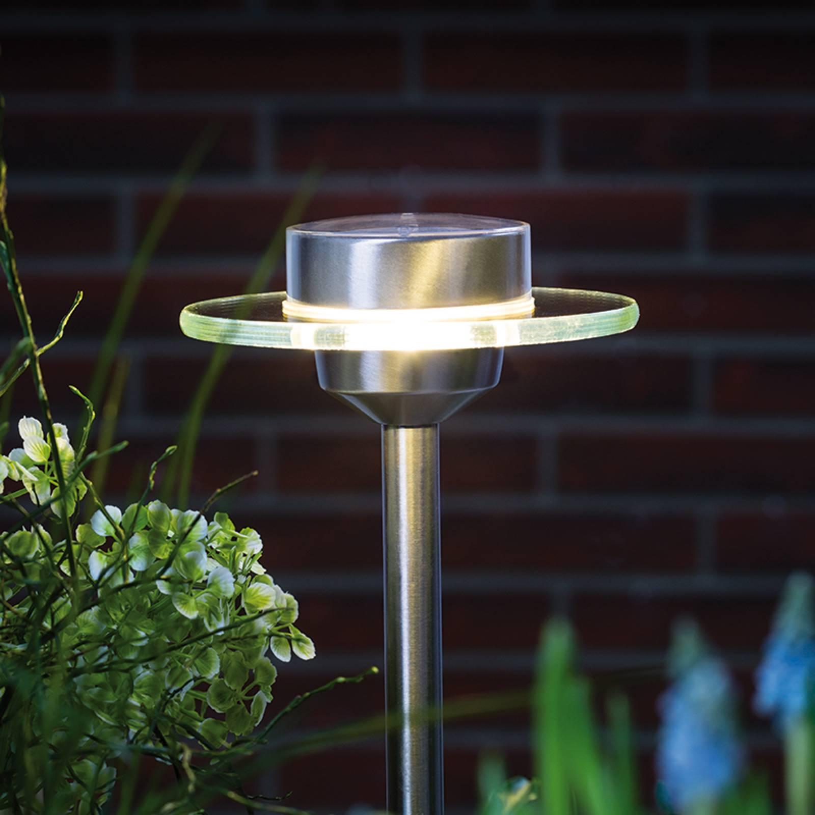 Lampa solarna UFO z LED, IP44, stal szlachetna