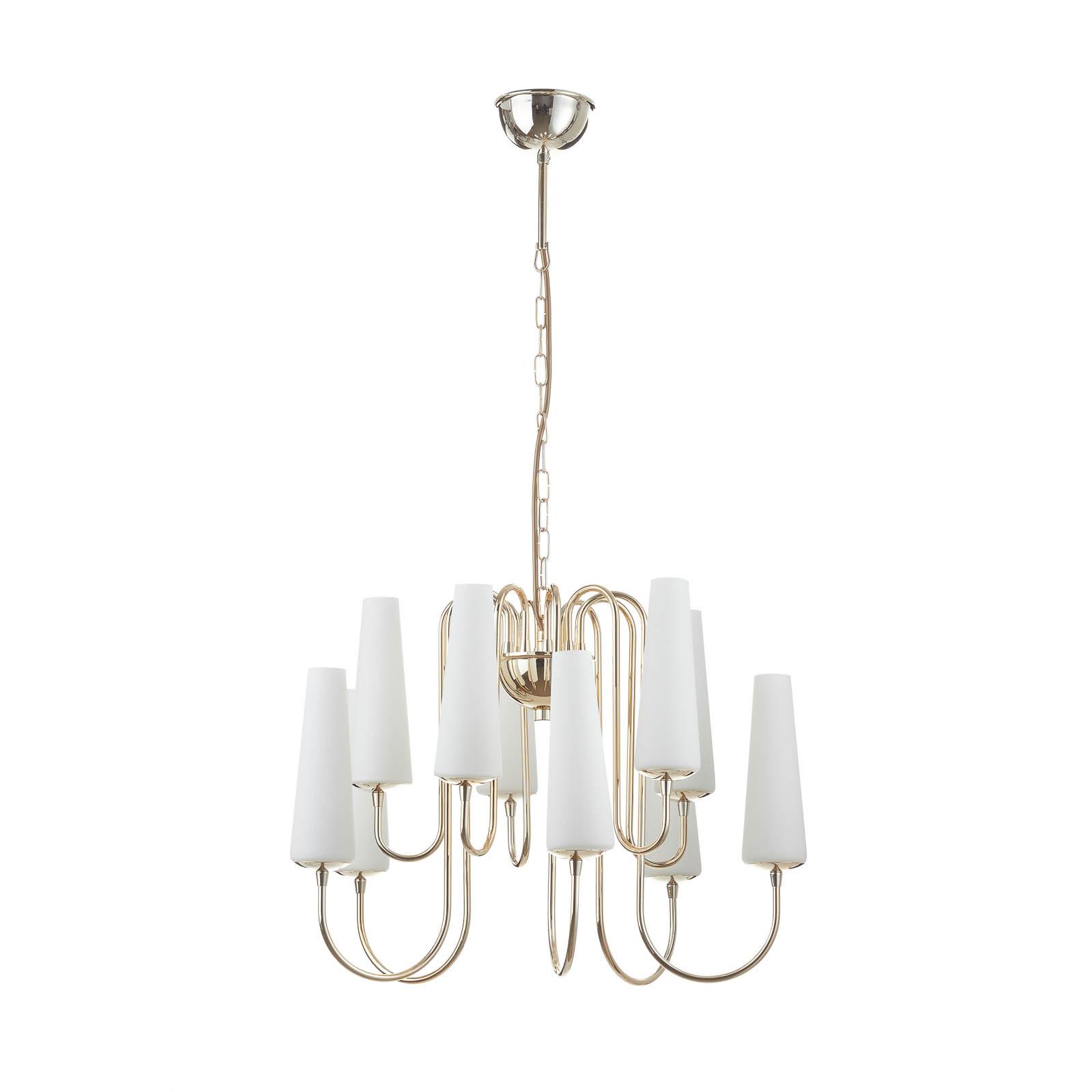 Gouden kroonluchter Magnum, met tien lampen