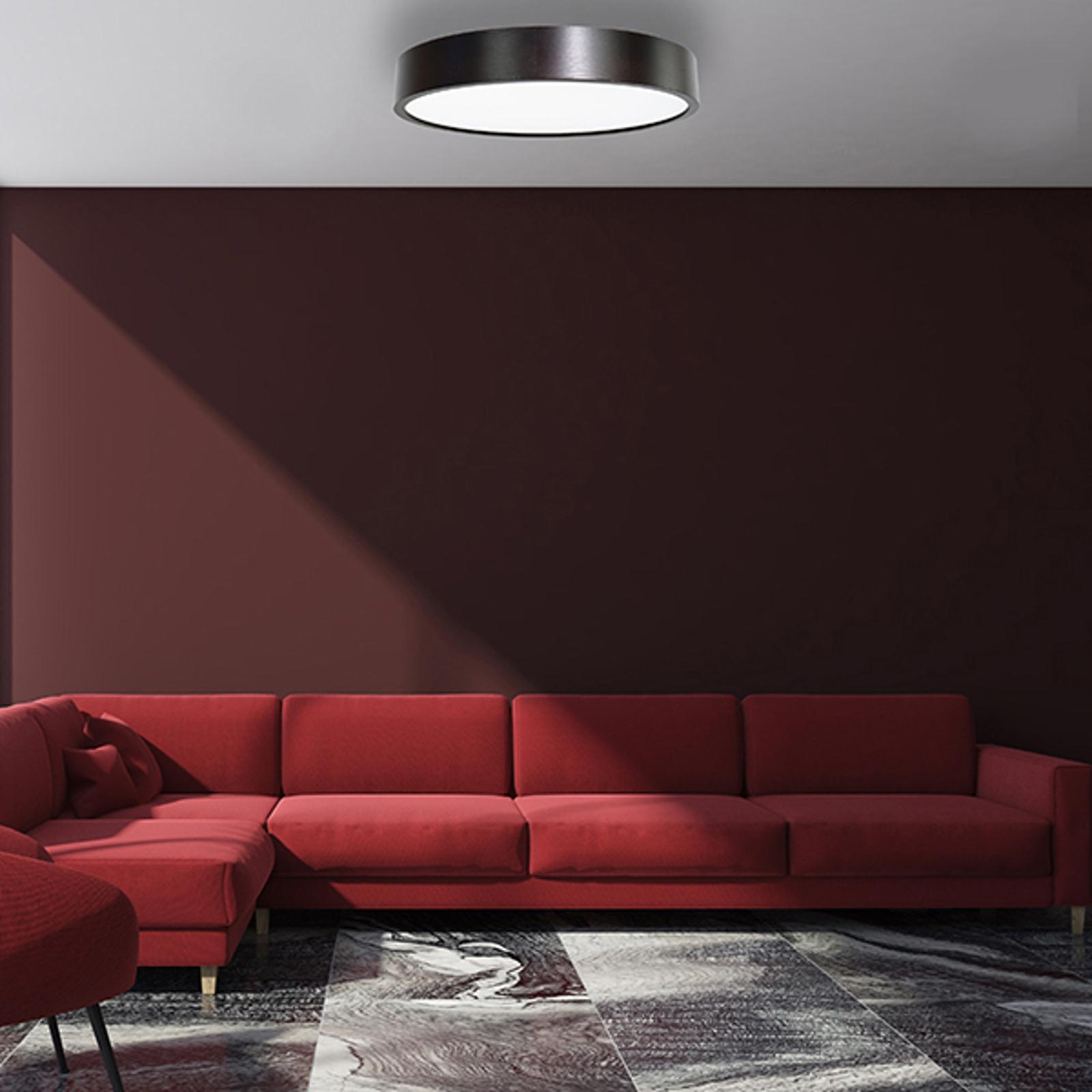 LED-Deckenleuchte Cleo, Ø 48 cm, schwarz