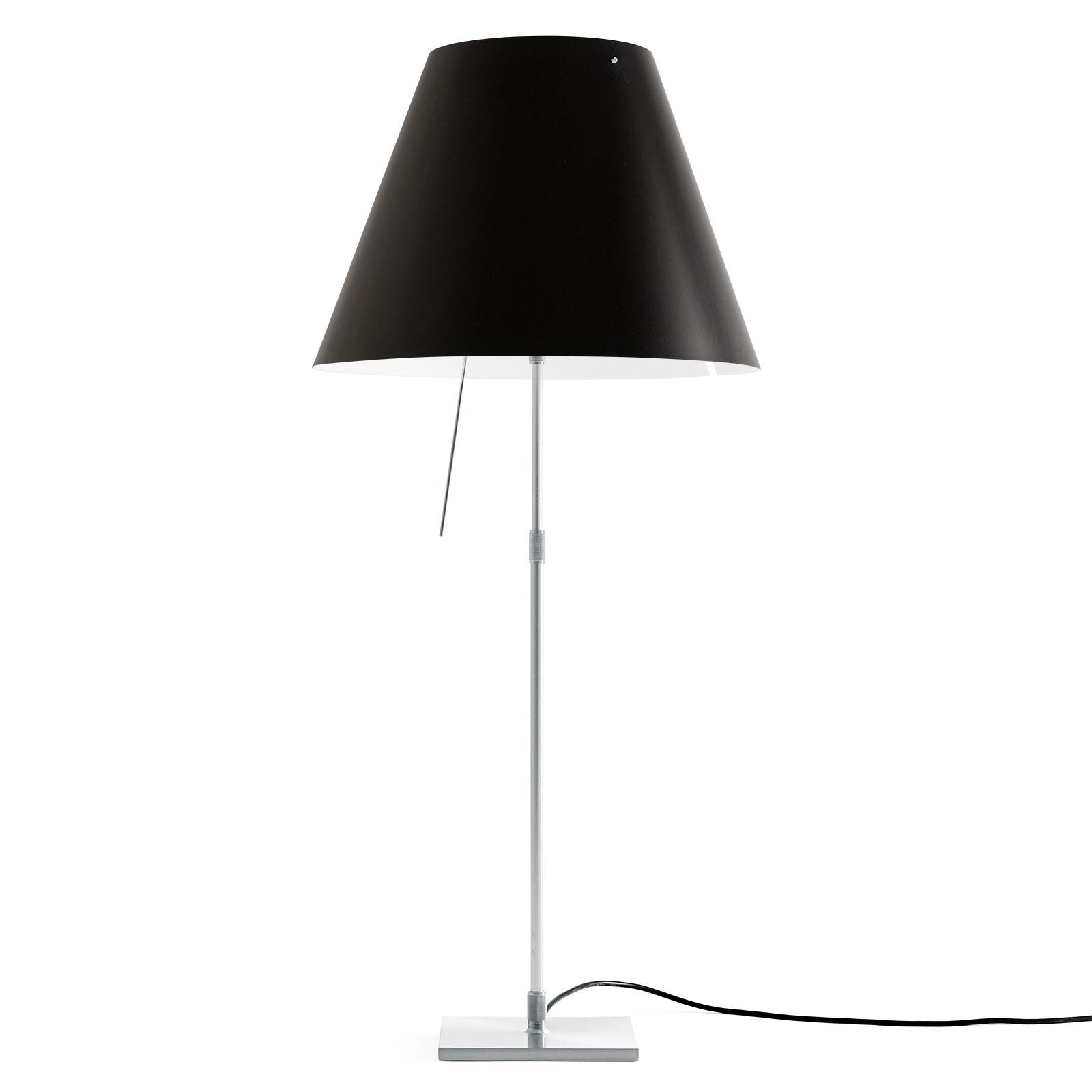 Luceplan Luceplan Costanza stolní lampa D13 hliník/černá