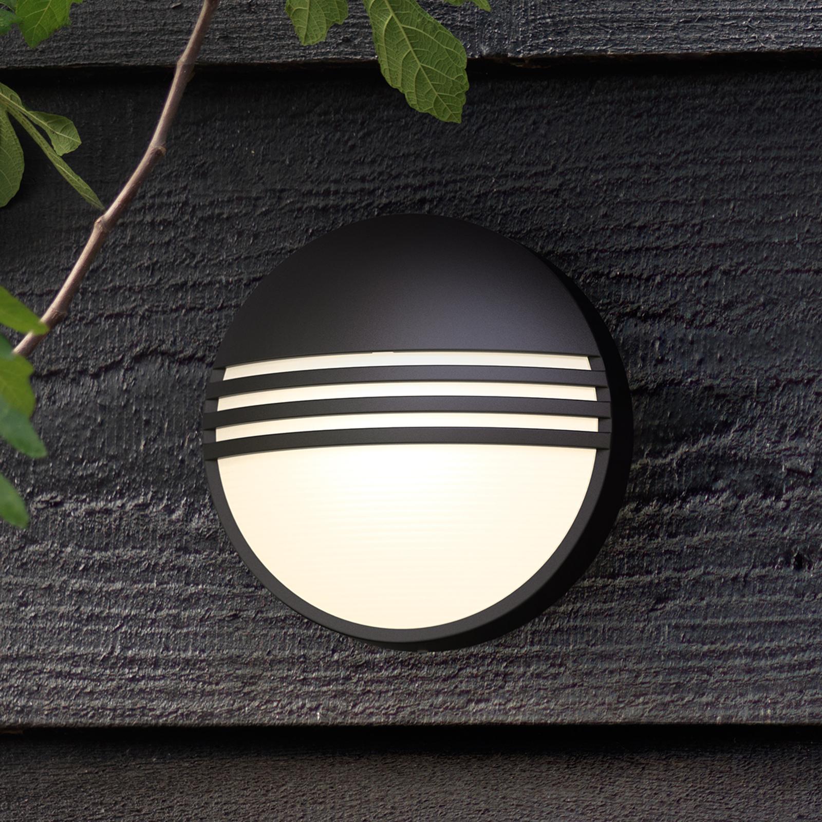 Philips Yarrow black LED outdoor wall light_7531792_1