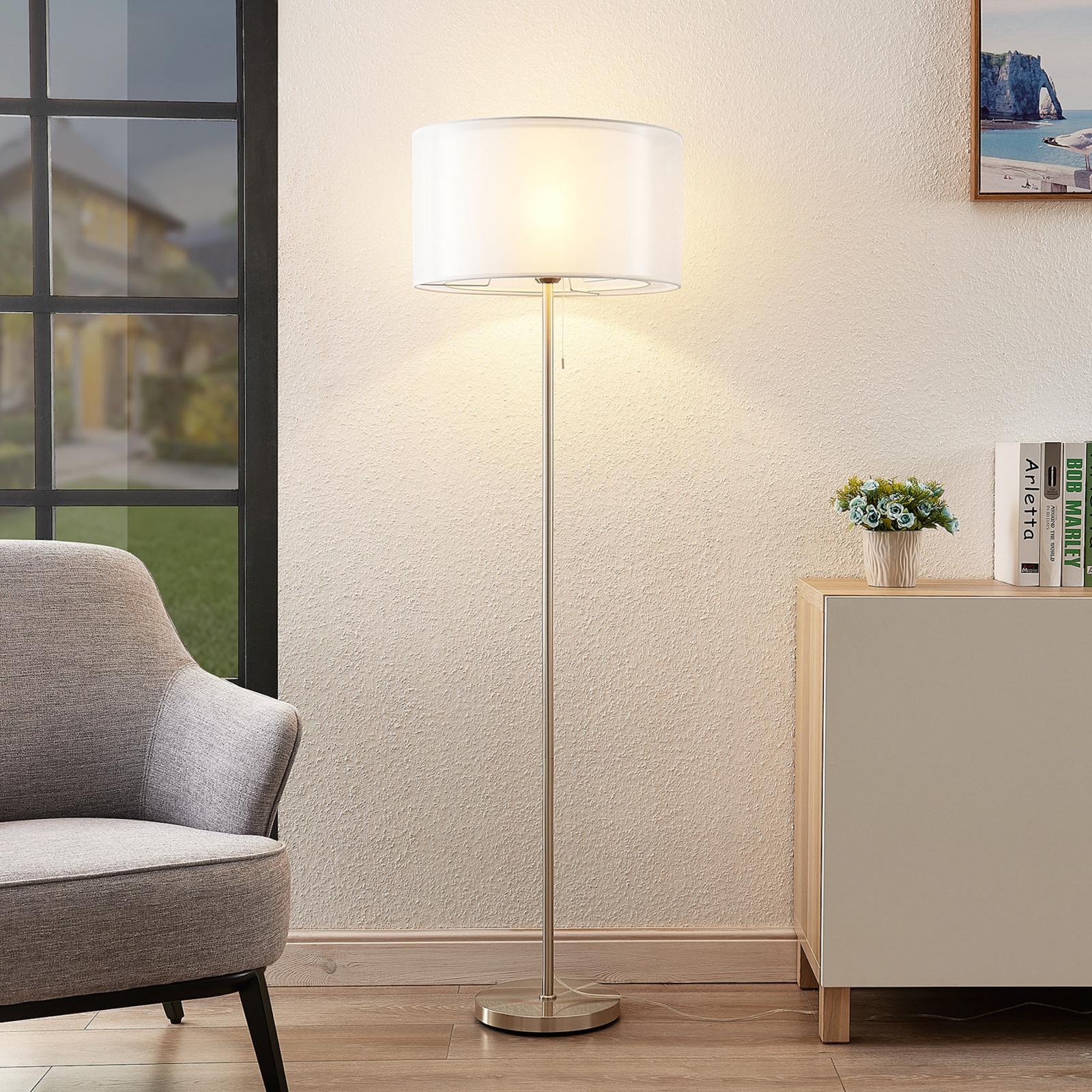 Lindby Taxima lampada da terra, bianco