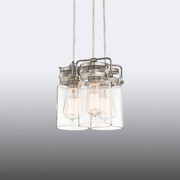 Brinley - hengelampe i Retro-stil, 3 lyskilder