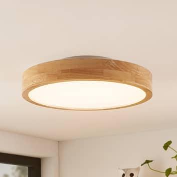 Lindby Milada plafón LED, madera de roble