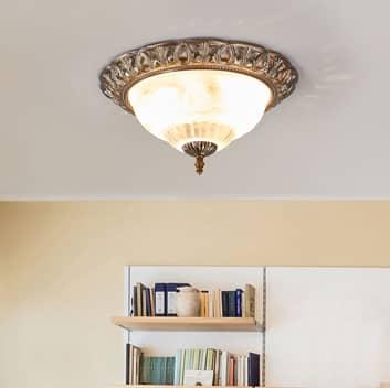 Dostojna lampa sufitowa TERESA z ozdobną krawędzią