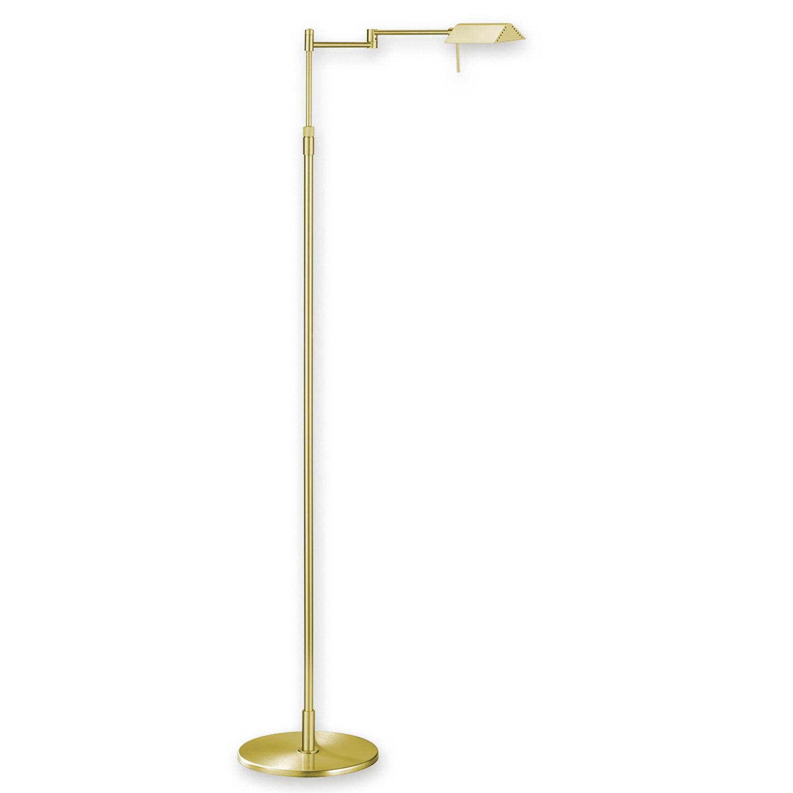 Lampadaire LED FINN raffiné laiton mat