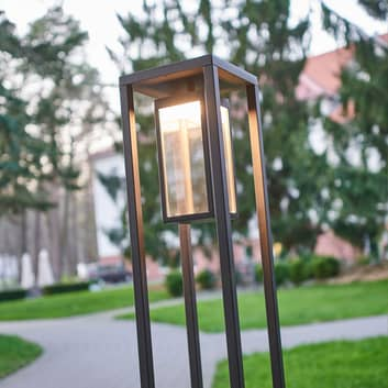 Moderno lampioncino a LED Ferdinand grigio scuro