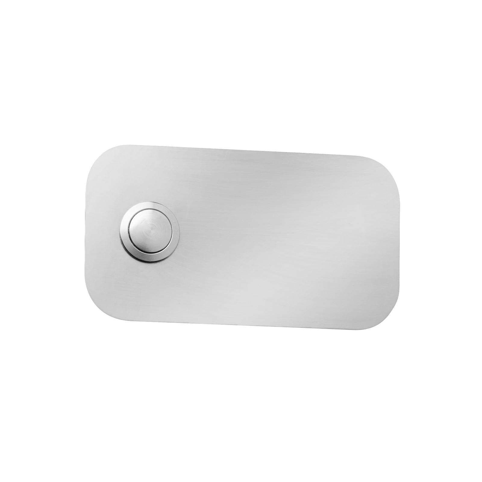 Suorakulmainen ovikellolaatta, ruostumaton teräs